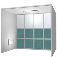 Open Face Spray Booth
